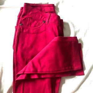 Bright Pink/Red Ponte Pants